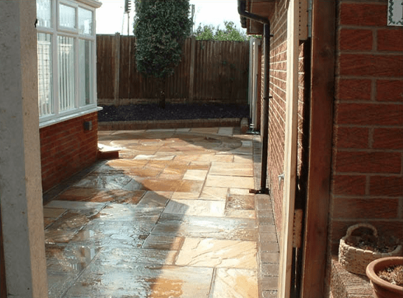 after landscaping patio