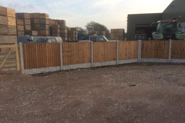 Concrete Posts and Wooden Panels