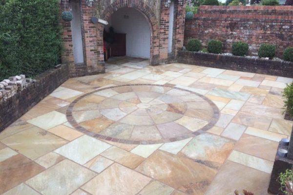 Fossil Mint Paving