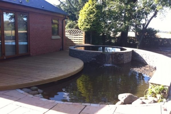 Water Feature Decking and Paving